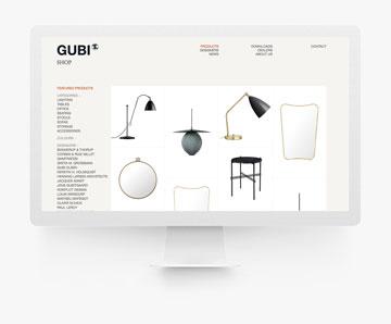 GUBI 歐美家具 網頁設計