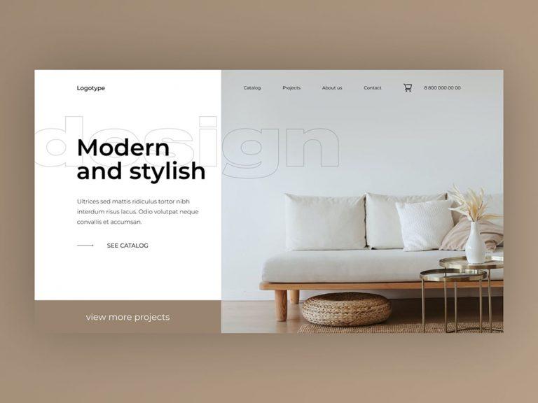 優雅大氣!12款家居類品牌網頁設計