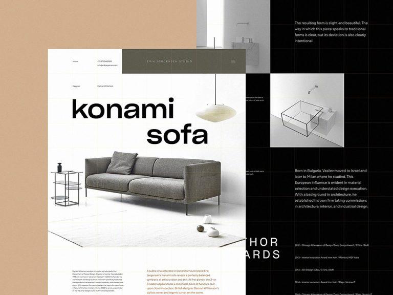12款室內傢俱設計公司網頁設計架構