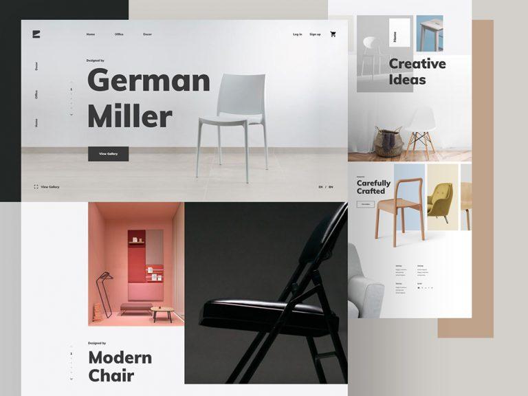 欣賞這12款高端大氣的家具網站設計趨勢方針
