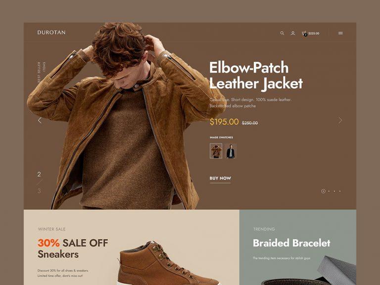 時髦星人!12款時尚購物網頁設計