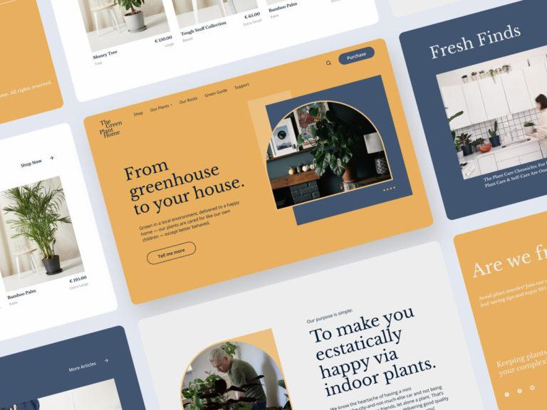 如何在網頁設計中應用幾何圖形點睛畫面?